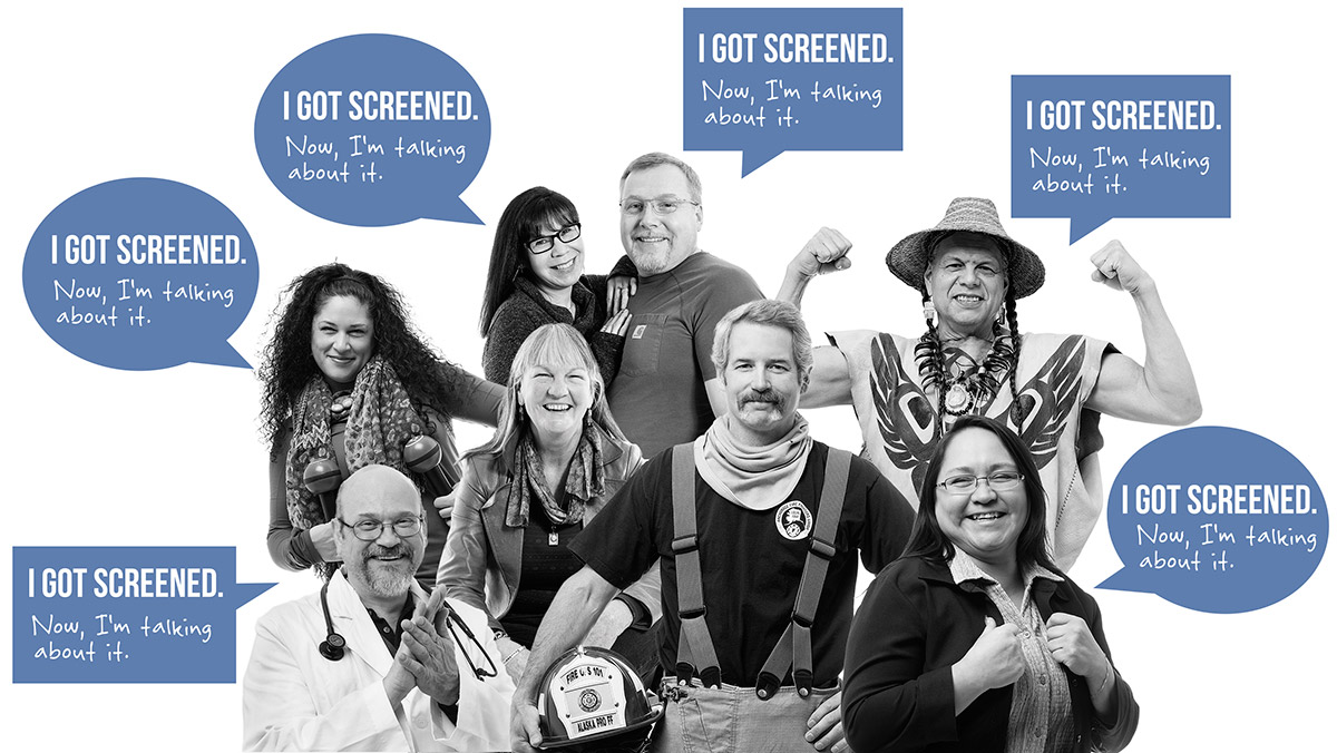Colorectal screening people: I got screened. Now, I'm talking about it.